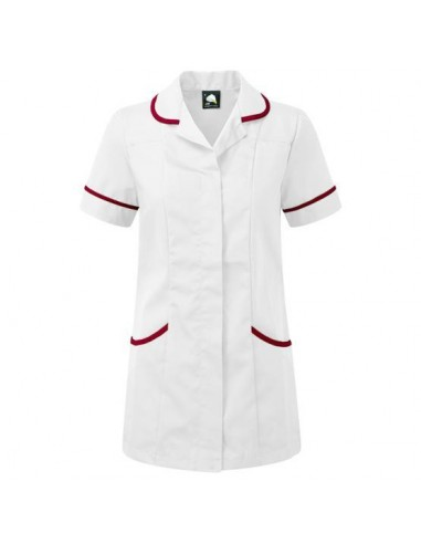 ORN Clothing Florence Tunic - White / Maroon