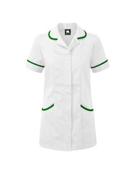 ORN Clothing Florence Tunic - White / Bottle Green