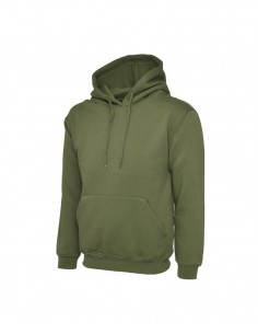 Uneek Clothing UC502 Classic Hooded Sweatshirt - Olive