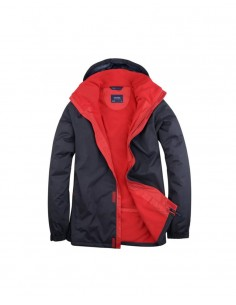 Uneek Clothing UC621 Deluxe Outdoor Jacket - Navy Red
