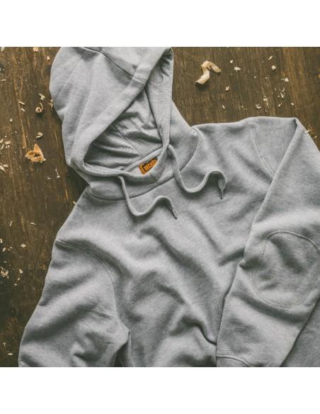 Scruffs Worker Hoodie Front in Grey - Work Hoodies