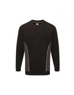 ORN Clothing Silverswift Two Tone Sweatshirt - Black / Charcoal