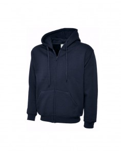 Uneek Clothing Classic Full Zip Hoodie (UC504) - Navy