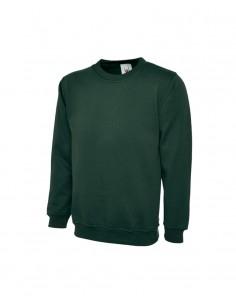 Uneek Clothing Premium Sweatshirt (UC201) - Bottle Green