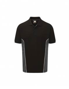 ORN Clothing Silverswift Two Tone Poloshirt - Black /Charcoal